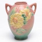 """Roseville Pottery """"Peony"""" Vase, 1940s"""