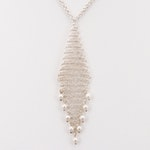 Elsa Peretti for Tiffany & Co. Sterling Silver Mesh Pendant Necklace