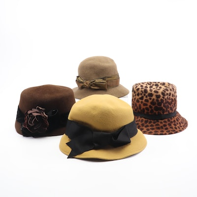 Linda Campisano Millinery Felted Wool Cloche Hats