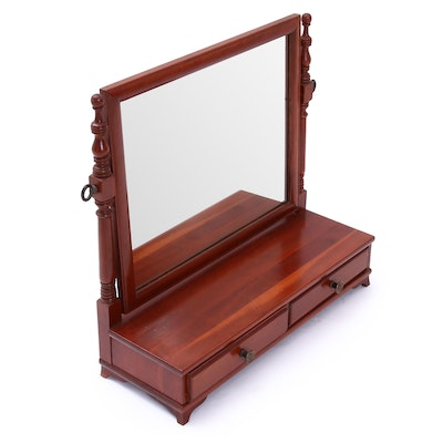 Willett Solid Cherry Shaving Mirror with Drawers