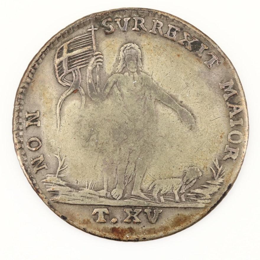 1772 Order of Malta AR 15-Tari Coin of Emmanuel Pinto
