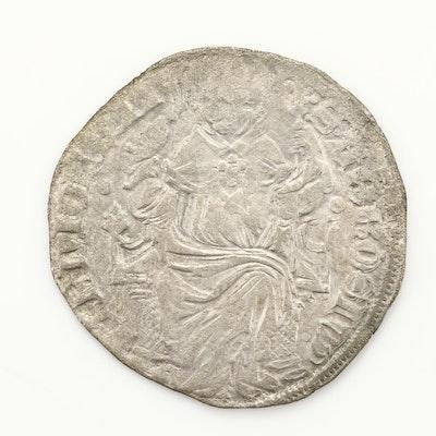 Milan (Italian States) Silver 1-Grosso Coin of Gian Galeazzo Visconti, ca. 1395