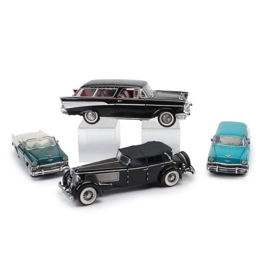 1956-57 Chevrolet Bel-Air and 1940 Duesenberg Die-Cast Car Models