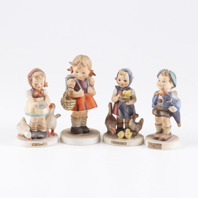 "Goebel Hummel Porcelain Figurines Including ""School Girl"""