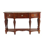 Stanley Furniture Wooden Buffet with Marble Top