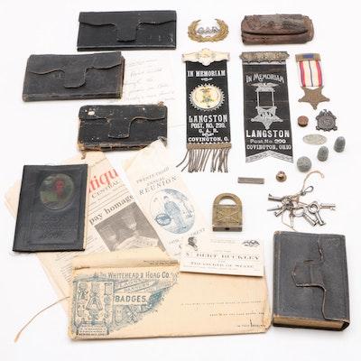 Civil War Diaries, G.A.R. Medals and Pins, Minié Ball Ammunition, and More