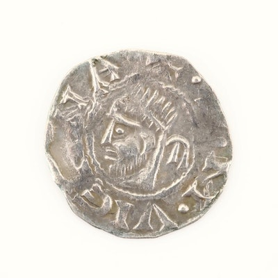 France, Vienne AR Denier Coin, ca. 1200s, Anonymous Issue