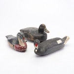 Vintage Hand-Crafted Wooden Duck Decoys