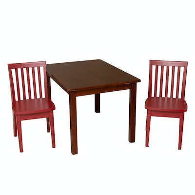 Children's Wooden Pottery Barn Kids Table and Chairs