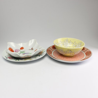 Chinese, Japanese and Asian Inspired Porcelain Including Limoges