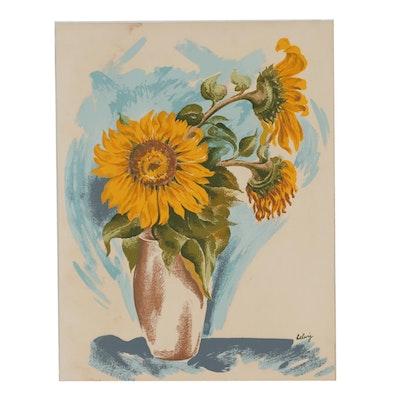 Arthur Helwig Floral Still Life Serigraph