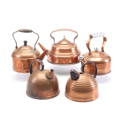 Copper Tea Kettles Including K.S.B & Co.