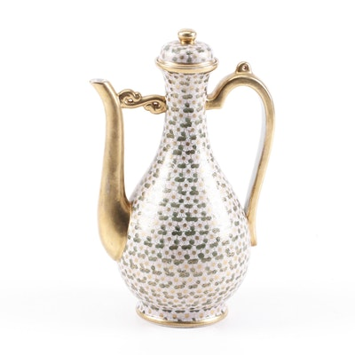 Japanese Kutani Enameled Porcelain Teapot