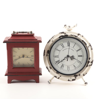Contemporary Mantel Clock and  The Chester Company Desk Clock