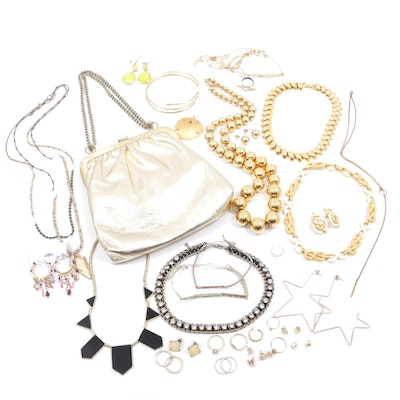 Jewelry Assortment and Evening Bag
