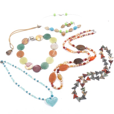 Gemstone Necklaces and Earrings