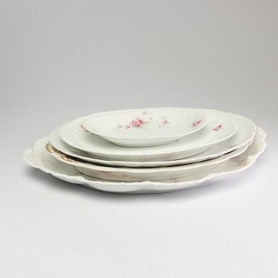 Porcelain Platters Including Rosenthal and Haviland, Circa 1900