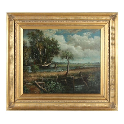 Dunn Canal Landscape Oil Painting