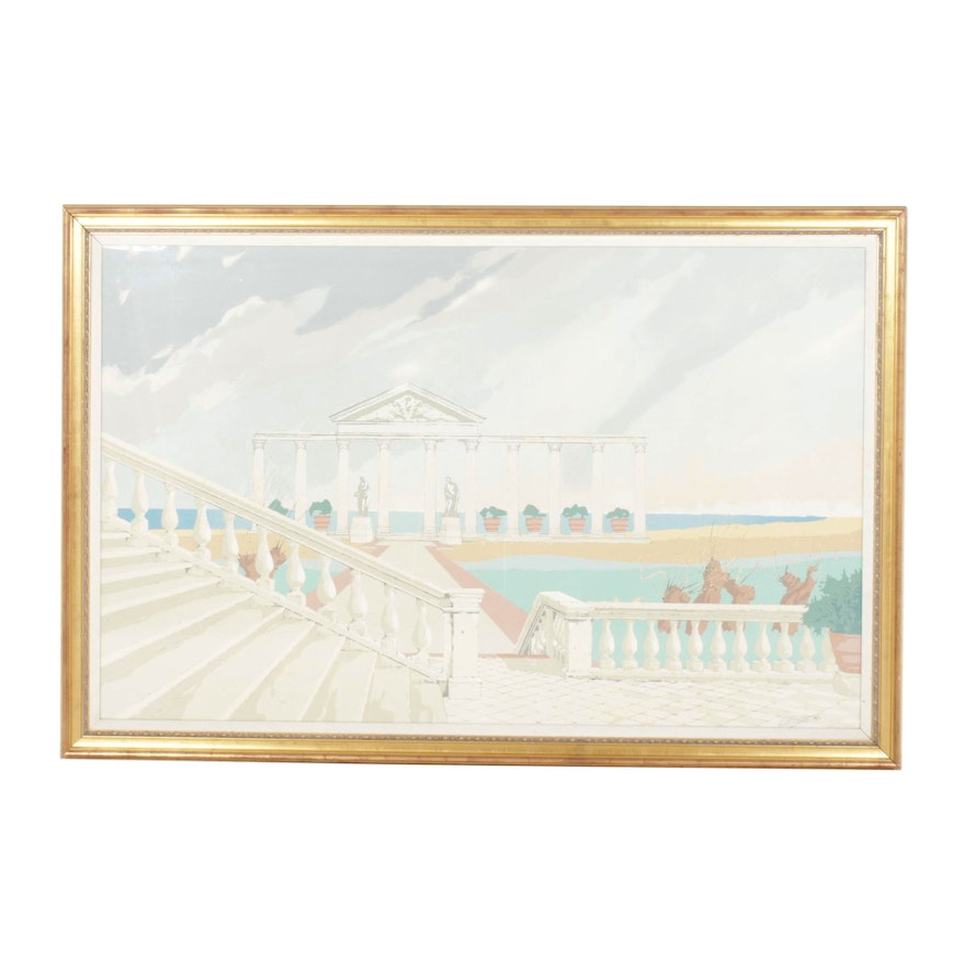 Thomas McKnight Beach Scene Serigraph