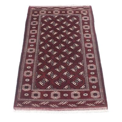 4'2 x 7'4 Hand-Knotted Persian Turkoman Rug, Circa 1960s