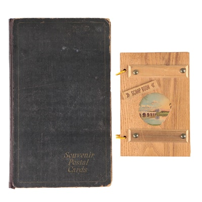 Souvenir Post Cards Album and Photograph Scrap Book, 1910s and 1940s