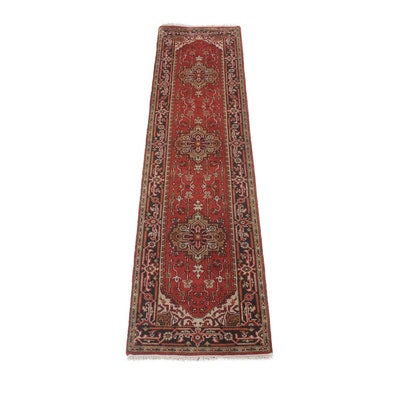 2'6 x 10' Hand-Knotted Indo-Persian Heriz Serapi Carpet Runner