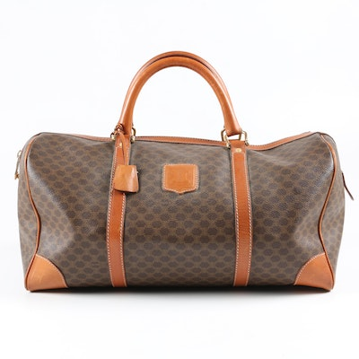 Céline Coated Canvas and Leather Trim Carry-On Bag, Vintage