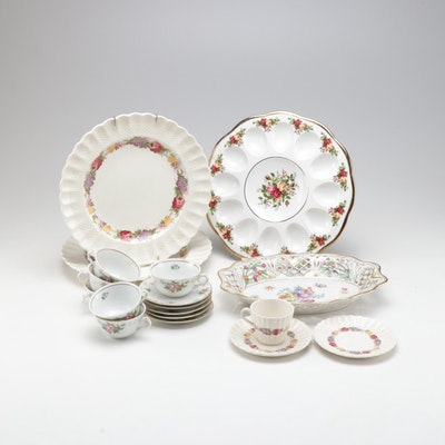 Spode China and Other Assorted Tea and Serving Sets