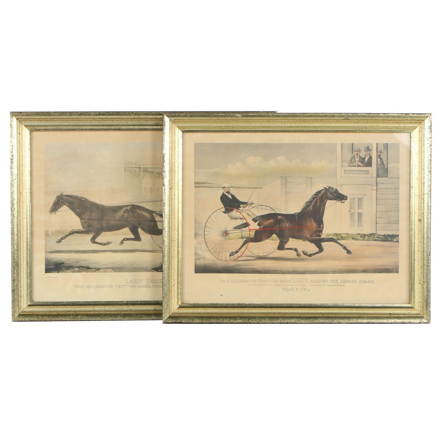 Currier & Ives Lithographs of Racing Horses