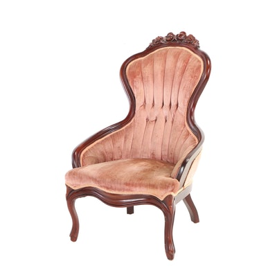 Pelham, Shell & Leckie Inc., Victorian Style Mahogany Lady's Parlor Chair