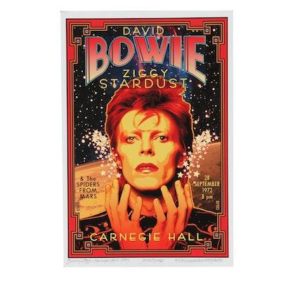 "David Edward Byrd Artist Proof Giclée ""Bowie/Ziggy at Carnegie Hall 1972"""