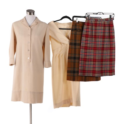 Wool Dresses and Plaid Skirts Including Westbury, Late 1950s - Early 1960s