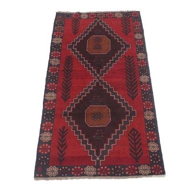 3'7 x 6'9 Hand-Knotted Afghani Turkoman Rug, Circa 1980s