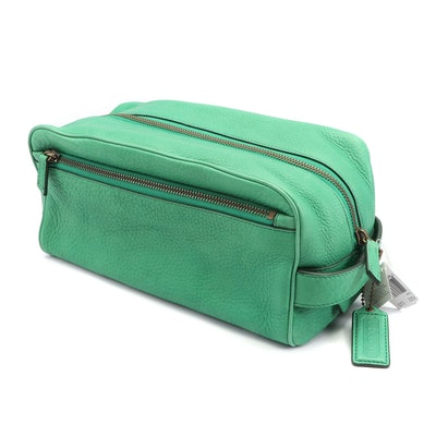 Coach Clover Pebbled Leather Dopp Kit Travel Bag