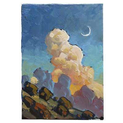 William Hawkins Nocturne Landscape Oil Painting
