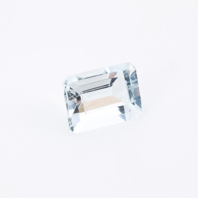 Loose 1.58 CT Aquamarine Gemstone