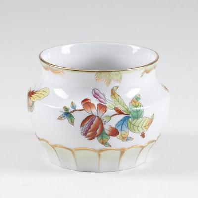 "Herend ""Queen Victoria"" Hand-Painted Porcelain Potpourri Jar"