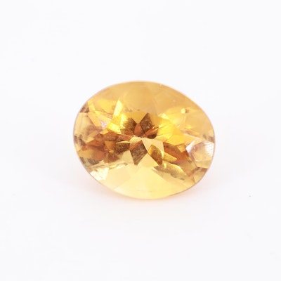 Loose 3.46 CT Oval Faceted Citrine Gemstone
