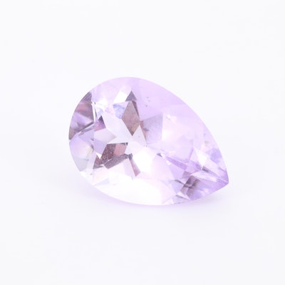 Loose 4.71 CT Pear Shaped Amethyst Gemstone