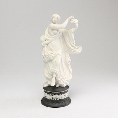 "Wedgwood Herculaneum Dancers Collection ""Playing Cymbals"" Jasperware Figurine"