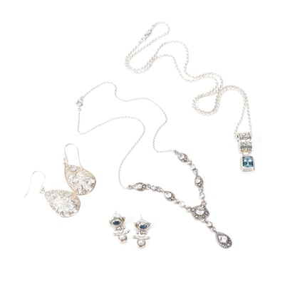 Sterling Silver Blue Topaz Jewelry