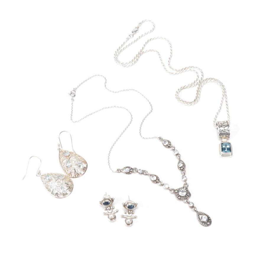 Sterling Silver Blue Topaz Jewelry