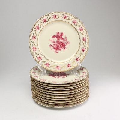 """Schumann Bavaria """"Vienna Rose"""" Plates"""