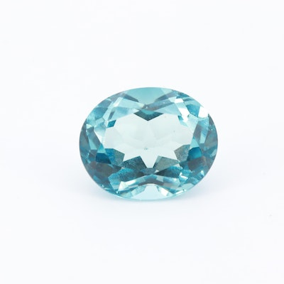 Loose 5.00 CT Oval Faceted Blue Topaz Gemstone