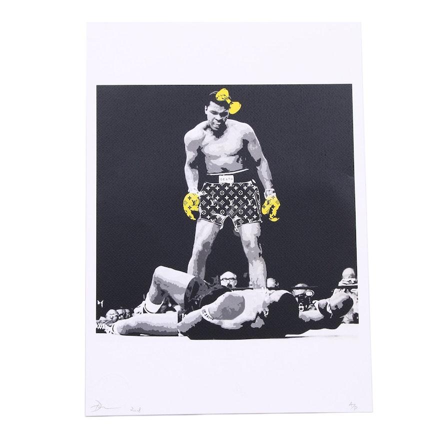 Death NYC Graphic Print of Muhammad Ali Boxing