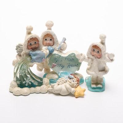 Cast Art Industries Dreamsicles Northern Lights Gypsum Figurines, Circa 1990s