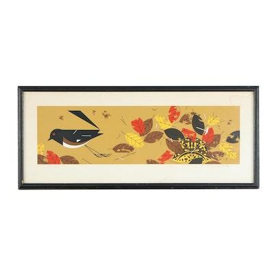 "Charley Harper Serigraph ""Homebody (Box Turtle)"""