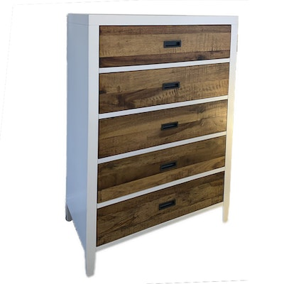 Contemporary Engineered and Rustic Wood Chest of Drawers
