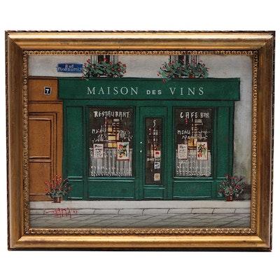 Maison Des Vins Acrylic Painting