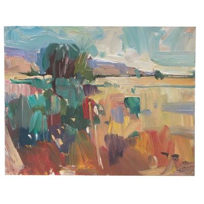 "Jose Trujillo Oil Painting ""Everlasting Field"""